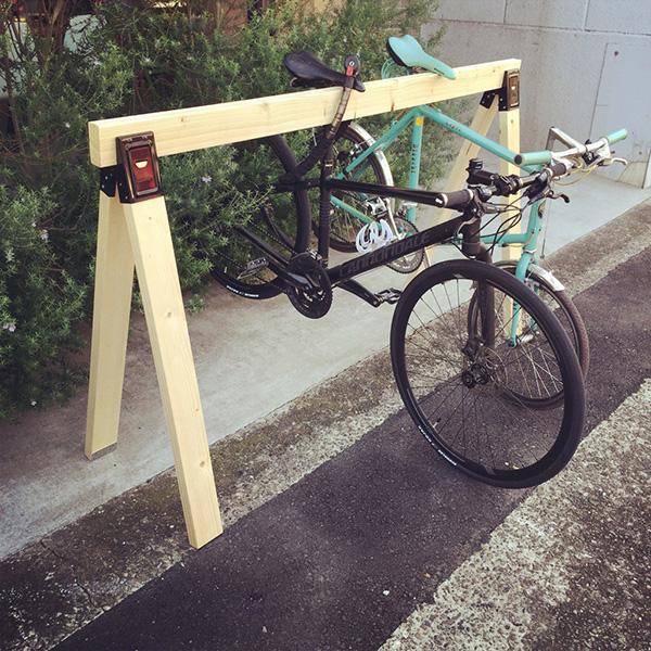 短足ですから・・自転車用スタンドがやってきた