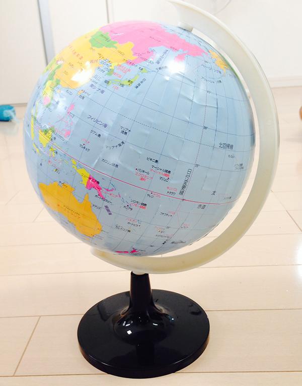 入園、入学祝いに簡単制作の地球儀でわくわく!