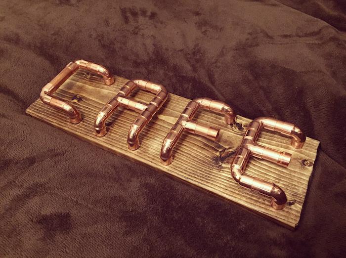 銅管を使ってアルファベットオブジェをDIY
